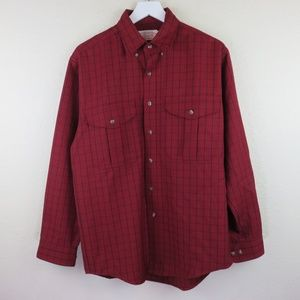 Filson Red Vintage Wool Plaid Shirt